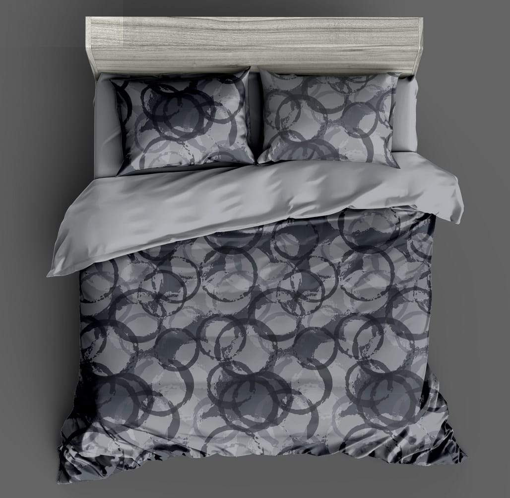 URBANA Designer King Size Double Bed Sheet with 2 Pillow Covers