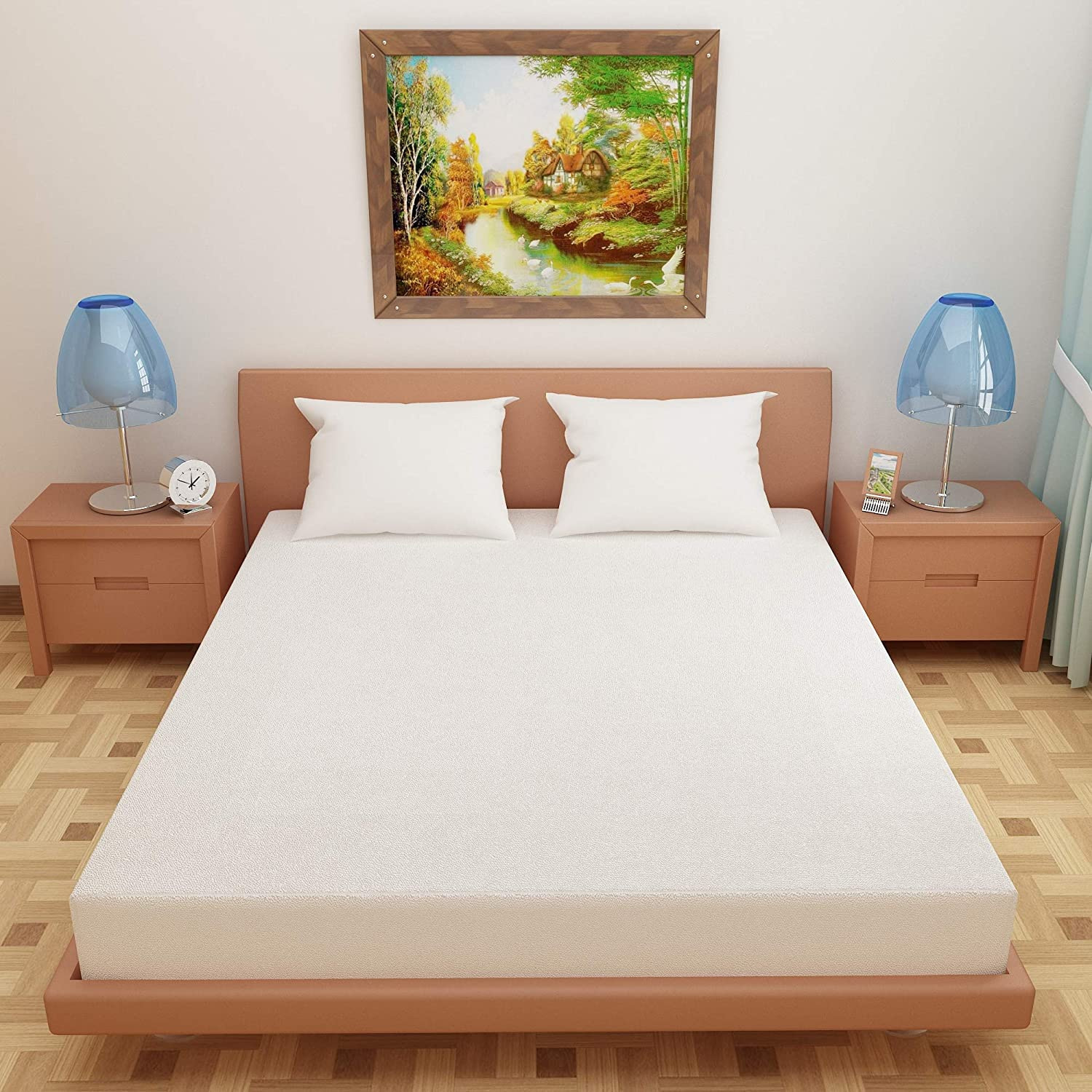 White Color waterproof and Dustproof Mattress Protector at Best Price Online