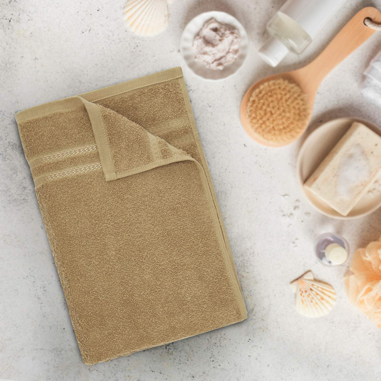 Welspun Quick Dry 375 GSM Cotton Bath Towel – Large, Tan