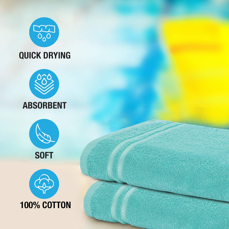 Welspun Quick Dry 375 GSM Large Bath Towel Sea Green