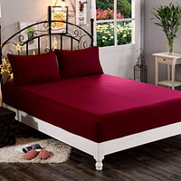 DREAM CARE Breathable and Waterproof Terry Cloth Elastic Fitted Mattress Protector for King Size Bed (78″x72″(6.5×6 Feet), Maroon)