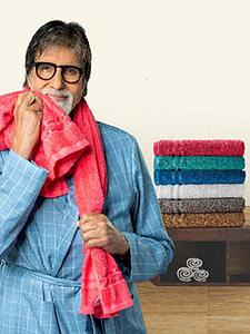 Amitabh BacchanUsing Welspun Quik Dry Towel