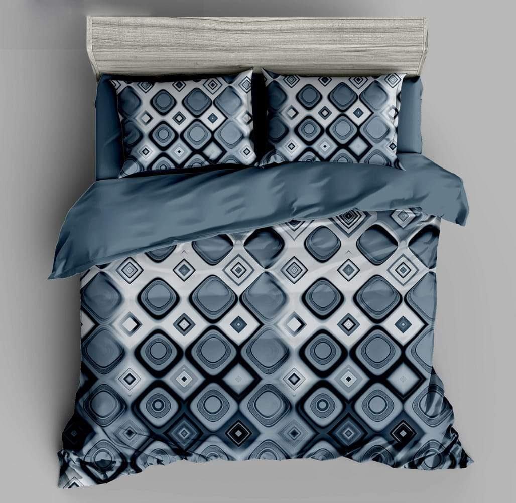 URBANA Designer King Size Grey Double Bed Sheet