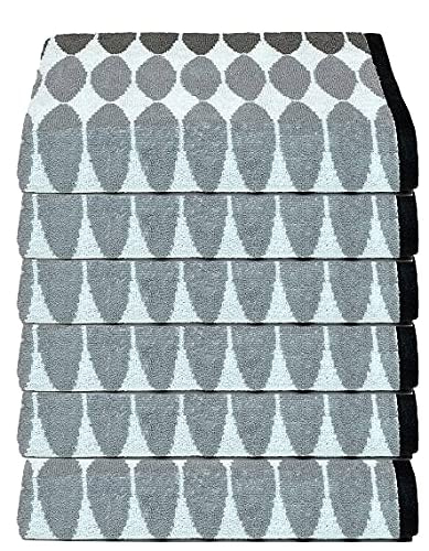 nova home splendis hand towel white grey black