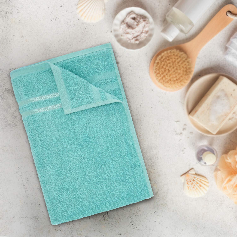 Welspun Quick Dry 375 GSM Cotton Bath Towel – Large, Sea Green