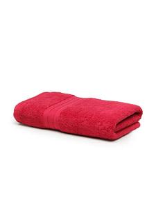 trident classic plus bath towel raspberry red 1
