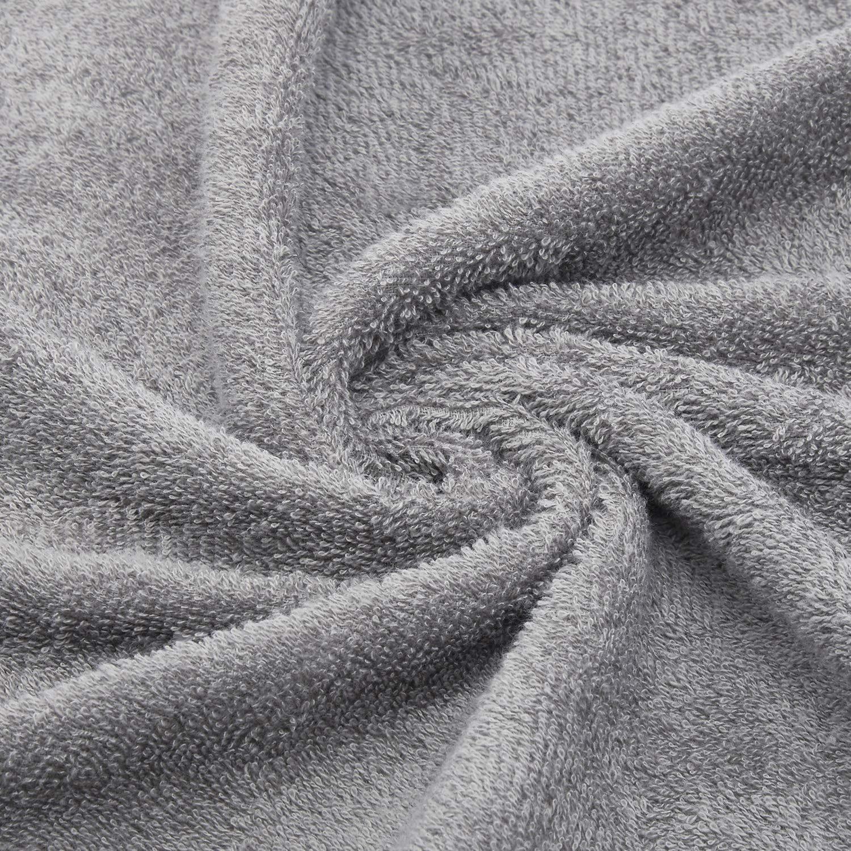 Welspun Quick Dry 375 GSM Cotton Large Bath Towel Grey