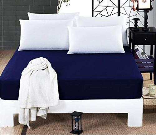 Navy Blue Mattress Protector From Dream Care