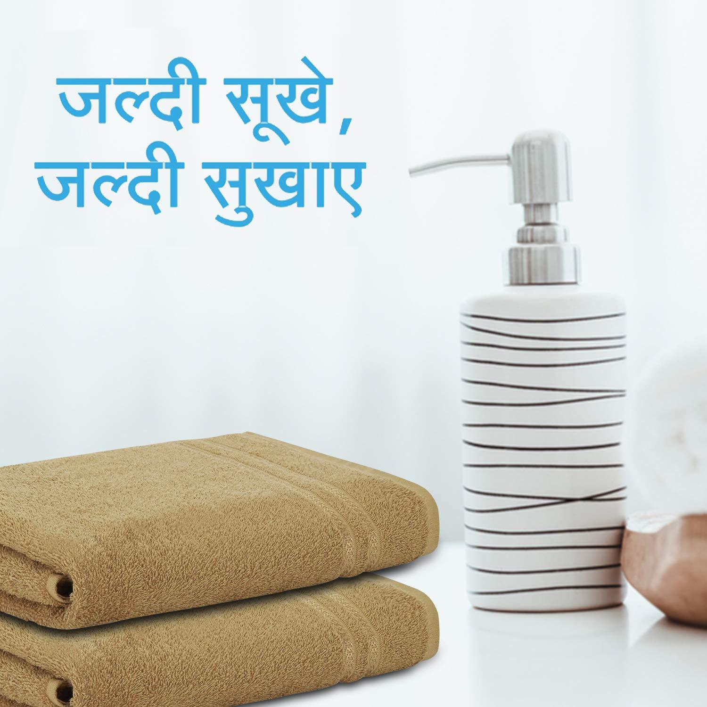Welspun Quick Dry 375 GSM Pure Cotton Large Bath Towel Tan