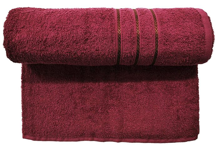 Bombay Dyeing Flora 400 GSM Maroon Towel