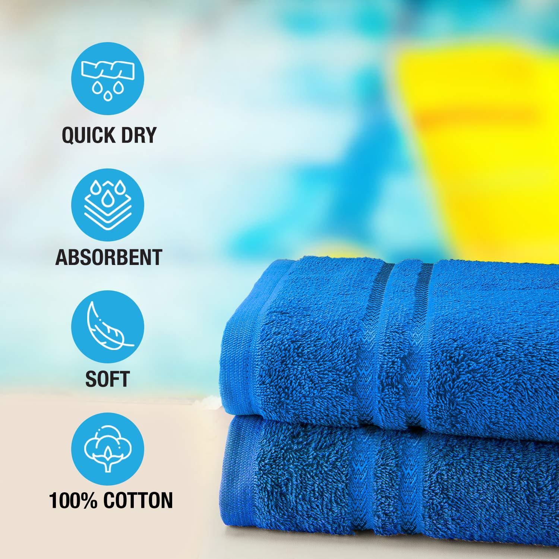 Welspun Quick Dry 375 GSM Large Bath Towel Blue
