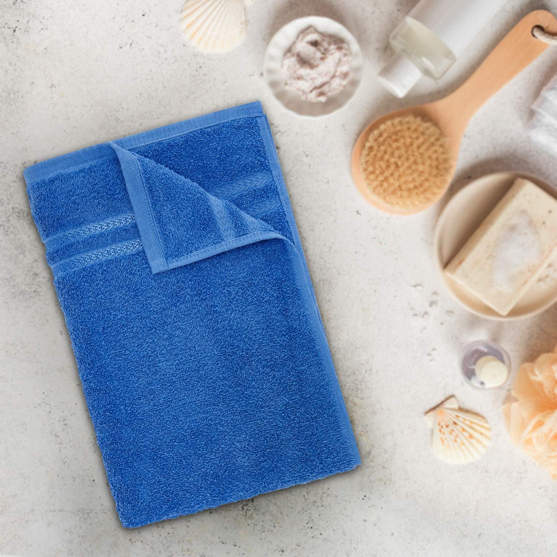 Welspun Quick Dry 375 GSM Cotton Bath Towel – Large, Blue