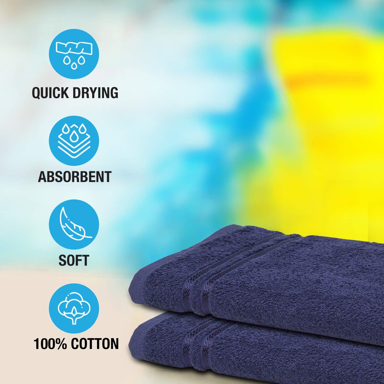 Welspun Quick Dry 375 GSM Large Bath Towel Dark Blue