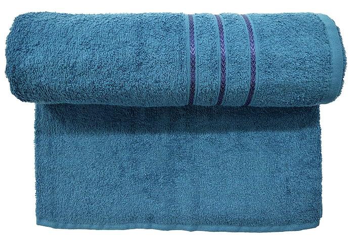 Bombay Dyeing Flora 400 GSM Ink Blue Towel