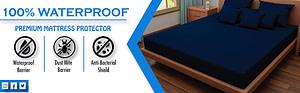 Dream Care Waterproof and Dustproof mattress protector Navy Blue