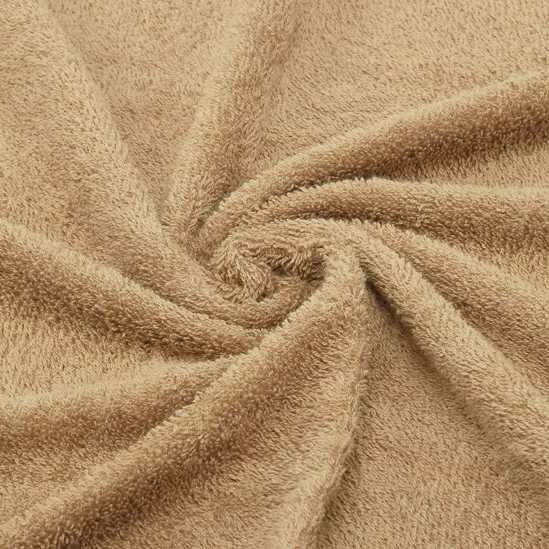 Welspun Quick Dry 375 GSM Cotton Large Bath Towel Tan