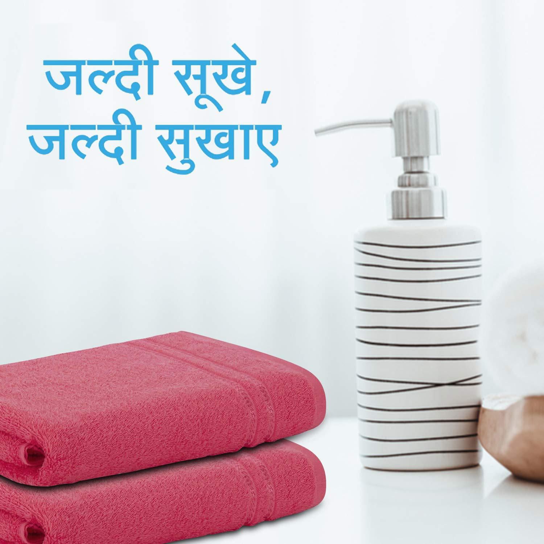 Welspun Quick Dry 375 GSM Pure Cotton Large Bath Towel Coral