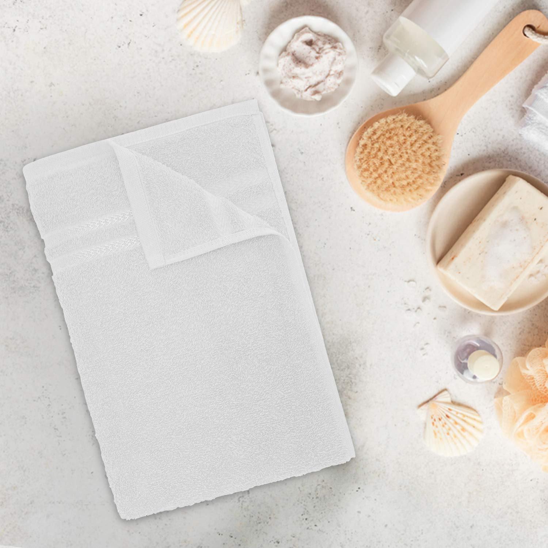 Welspun Quick Dry 375 GSM Cotton Bath Towel – Large, White