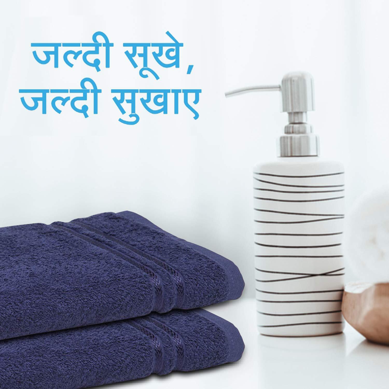 Welspun Quick Dry 375 GSM Pure Cotton Large Bath Towel Dark Blue