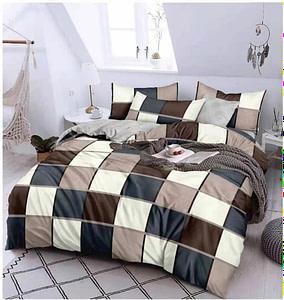 URBANA Designer King Size Multi Color Check Design Bed Sheet