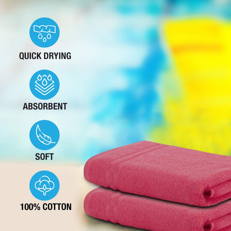 welspun Quick Dry 375 GSM Large Bath Towel Coral
