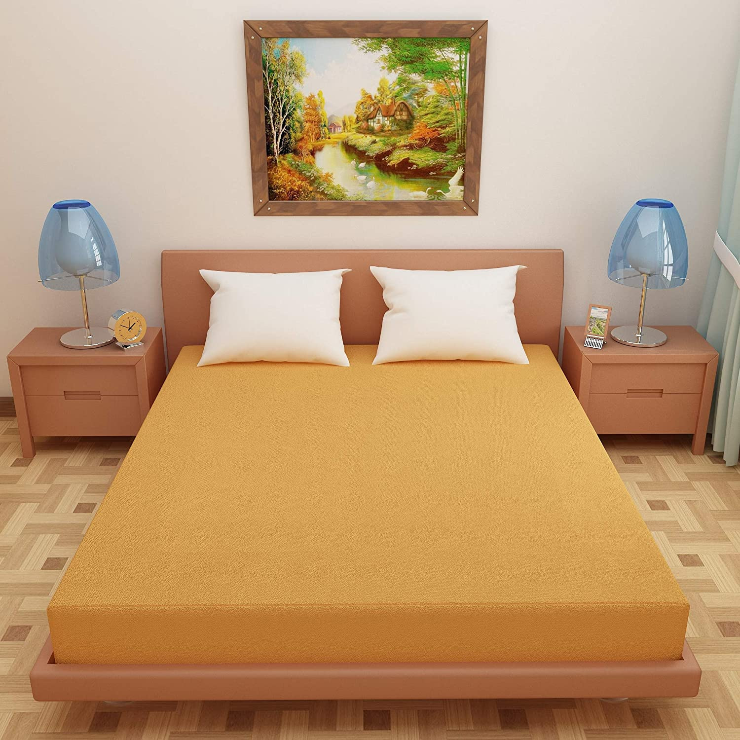 Dream Care breathable and Waterproof Mattress Protector Golden
