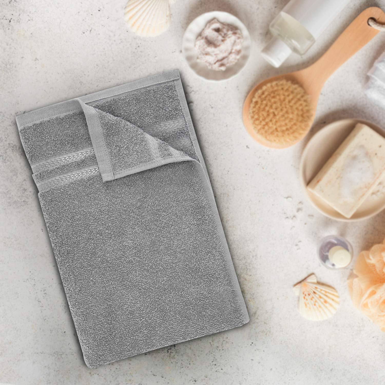 Welspun Quick Dry 375 GSM Bath Towe Greyl