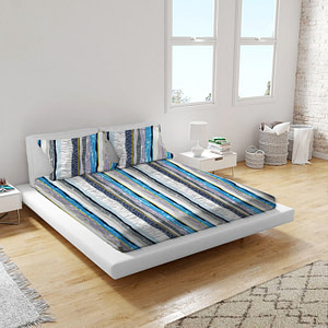 URBANA Multicolor Abstract Print POly Cotton Double Bed Sheet