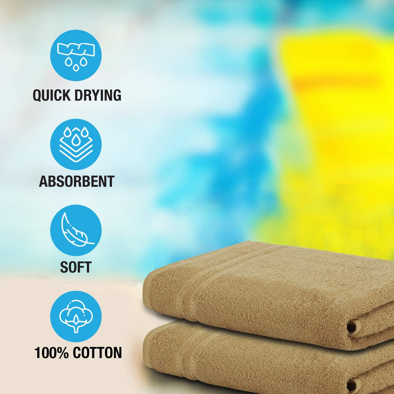 WelspunQuick Dry 375 GSM Large Bath Towel Tan