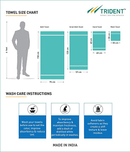 trident towel size guide