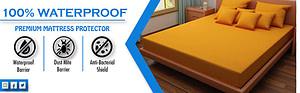 Dream Care Waterproof and Dustproof mattress protector Coffee
