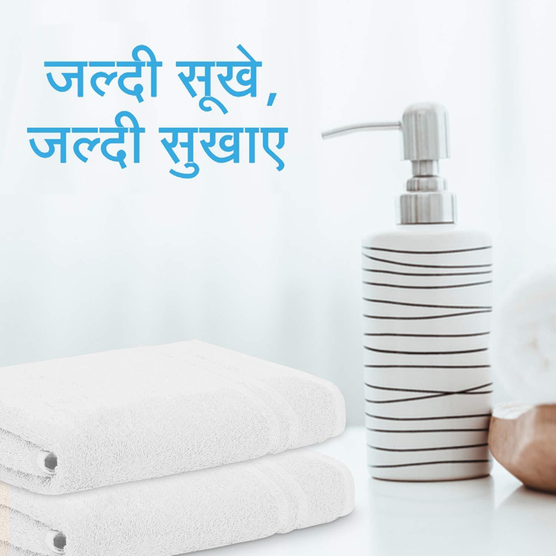 Welspun Quick Dry 375 GSM Pure Votton Large Bath Towel White