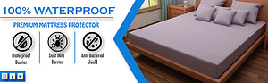 Dream Care Waterproof and Dustproof mattress protector Grey