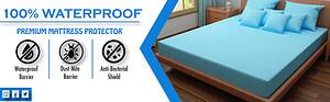 Dream Care Waterproof and Dustproof mattress protector Sky Blue